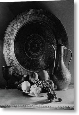 Still Life Of Armenian Plate And Other Metal Print