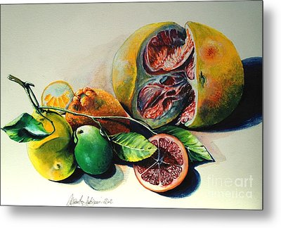 Still Life Of Citrus Metal Print by Alessandra Andrisani