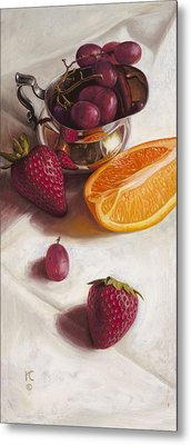 Still Life Reflections Metal Print by Ron Crabb