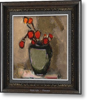 Metal Print featuring the painting Still Life Stl2 by Pemaro