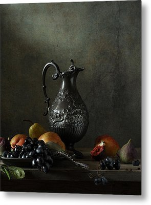 Still Life With A Jug And A Snake Metal Print by Diana Amelina