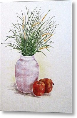 Still Life With Apples Metal Print by Renee Goularte