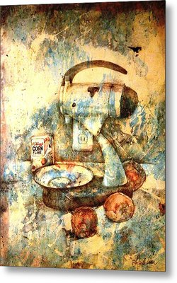 Still Life With Blender Metal Print by Ron Carson