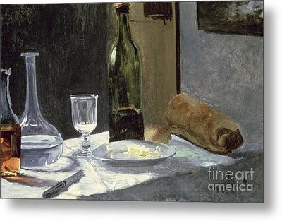 Still Life With Bottles Metal Print by Claude Monet