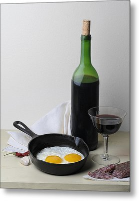 Still Life With Eggs Metal Print by Krasimir Tolev
