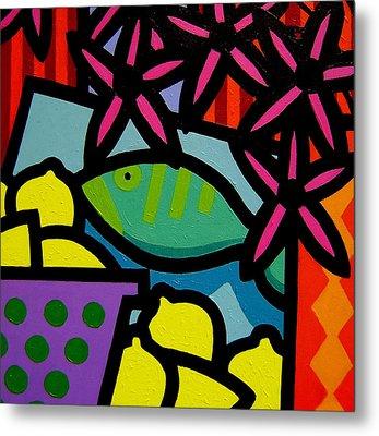 Still Life With Fish Metal Print by John  Nolan