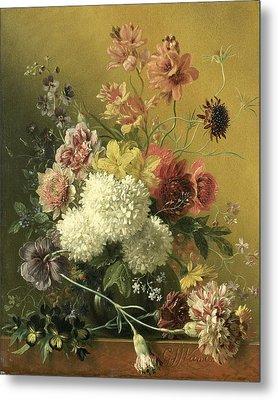 Still Life With Flowers Metal Print by Georgius van Os