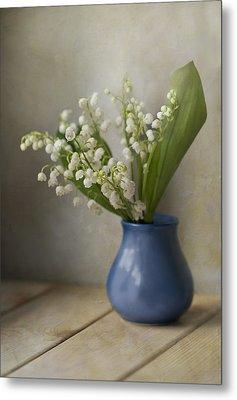 Still Life With Fresh Flowers Metal Print by Jaroslaw Blaminsky