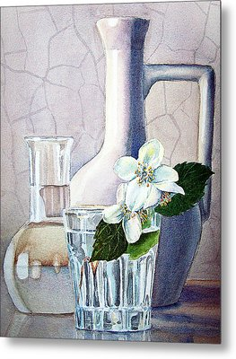 Still Life With Jasmine Metal Print