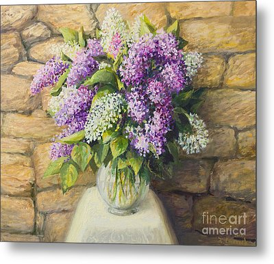 Still Life With Lilacs Metal Print by Kiril Stanchev