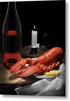 Metal Print featuring the photograph Still Life With Lobster by Krasimir Tolev