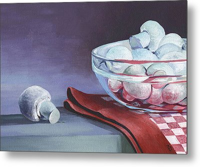 Still Life With Mushrooms Metal Print by Natasha Denger