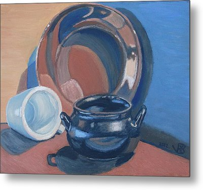 Still Life With Native American Reflections Metal Print