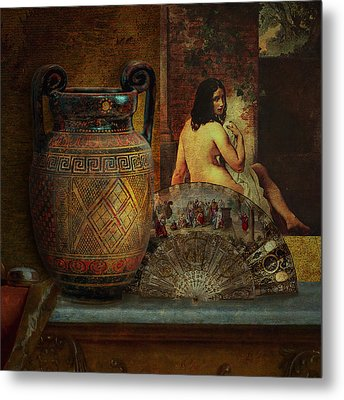 Still Life With Nude Metal Print by Jeff Burgess
