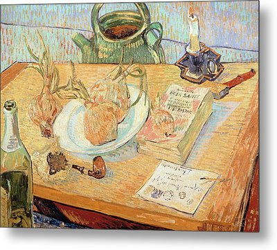 Still Life With Onions Metal Print by Vincent van Gogh