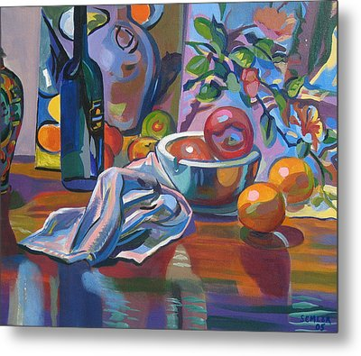 Still Life With Oranges Metal Print by Clyde Semler
