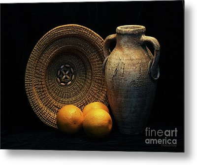Metal Print featuring the photograph Still Life With Oranges by Dodie Ulery