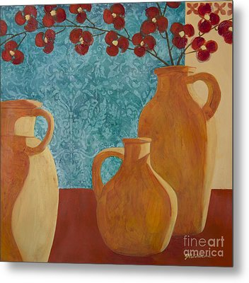 Still Life With Orchids II  Metal Print