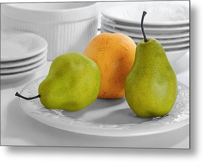 Metal Print featuring the photograph Still Life With Pears by Krasimir Tolev