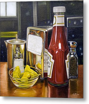 Still Life With Peppers Metal Print