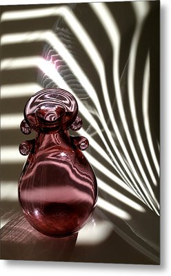 Still Life With  Pink Bottle Metal Print by Monika A Leon