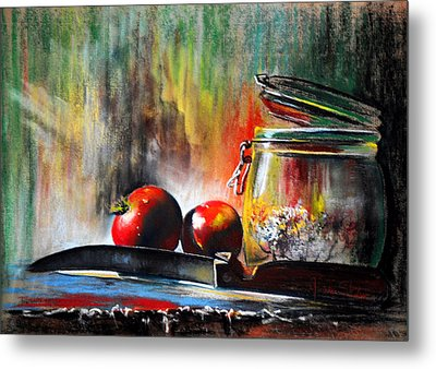 Still Life With Tomatoes Metal Print by James Skiles