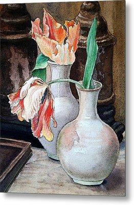 Still Life With Tulips Metal Print by Irina Sztukowski