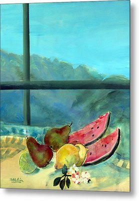 Still Life With Watermelon Metal Print by Marisa Leon