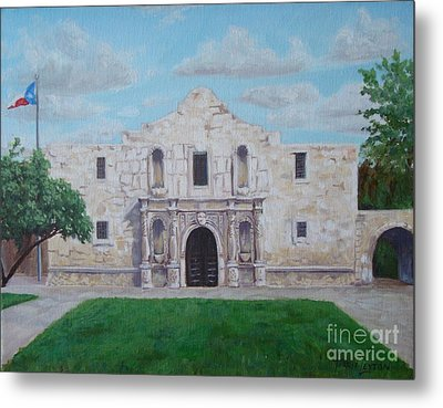 Still Standing Strong - The Alamo Metal Print by Terrie Leyton
