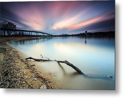 Metal Print featuring the photograph Still Sunset - Jonas Green by Jennifer Casey