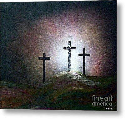 Metal Print featuring the painting Still The Light by Eloise Schneider