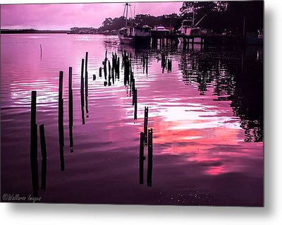 Metal Print featuring the photograph Still Water Dusk 2 by Wallaroo Images