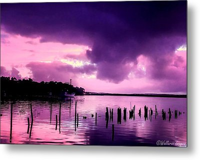 Metal Print featuring the photograph Still Water Dusk by Wallaroo Images