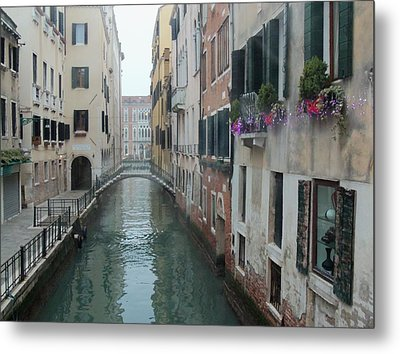 Still Waters In Venice Italy Metal Print by Jan Moore