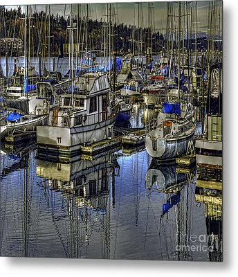 Metal Print featuring the photograph Still Water Masts by Jean OKeeffe Macro Abundance Art