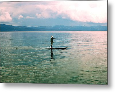 Stillness On The Lake Metal Print by Tamyra Crossley