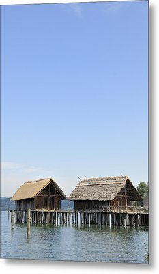 Stilt Houses At Lake Constance Germany Metal Print by Matthias Hauser