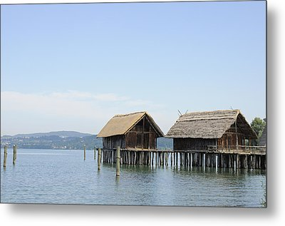 Stilt Houses In The Water Lake Constance Metal Print by Matthias Hauser