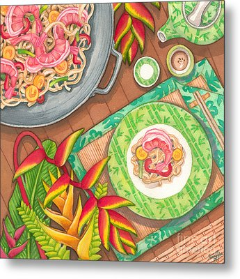 Stir Fry  Metal Print by Tammy Yee