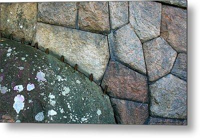 Stitched Stones Metal Print by Leena Pekkalainen