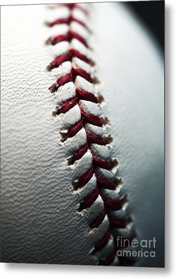 Stitches II Metal Print by John Rizzuto