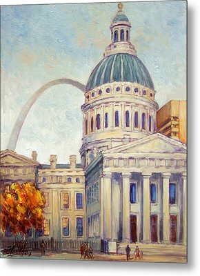 St.louis Old Courthouse Metal Print