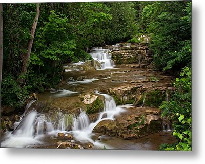 Metal Print featuring the photograph Stockbridge Falls by Dave Files