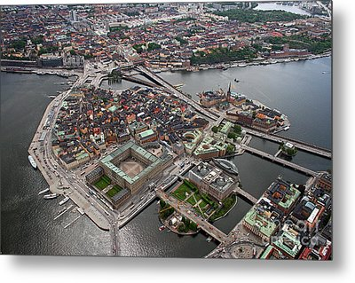 Stockholm Aerial View Metal Print by Lars Ruecker