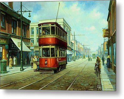Stockport Tram. Metal Print by Mike  Jeffries