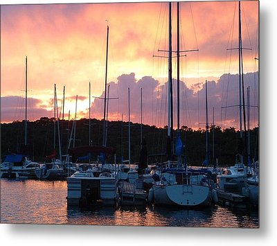 Metal Print featuring the photograph Stockton Sunset by Deena Stoddard