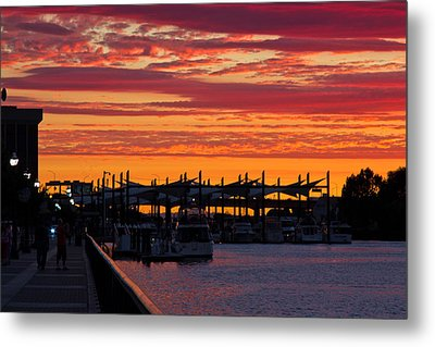 Stockton Sunset Metal Print by Randy Bayne