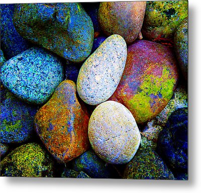 Stone And Light 9 Metal Print by Laurie Tsemak