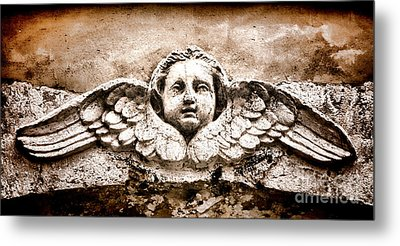 Stone Angel Metal Print by Olivier Le Queinec