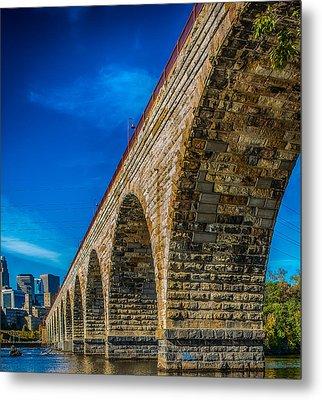 Stone Arch Bridge By Paul Freidlund Metal Print
